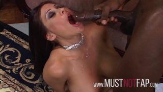 Ex-Stripper Big Tits Brunette MILF rides the Huge Black Cock BBC hard and rough Anal