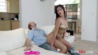 Slutty Stripper Sister Fucks Blackmailing Brother- Sophia Leone