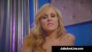 Hot Stripper Mom!? Busty Milf Julia Ann Finger Fucks After Stripping!