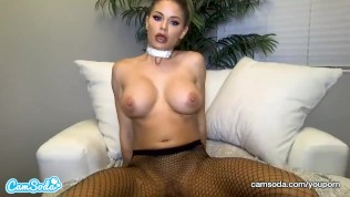 CamSoda – Jessa Rhodes Masturbates in fishnet stockings