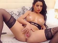 Brunette Babe Nicolebellaa Fucking A Dildo